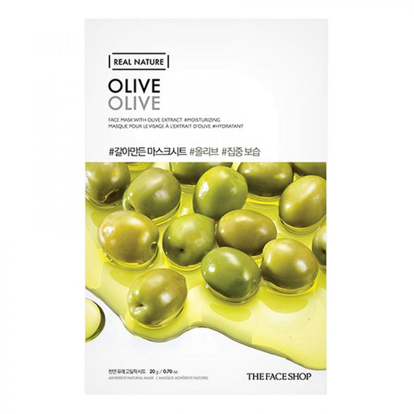 Mặt Nạ Giấy Miếng The Face Shop Real Nature Olive Face Mask
