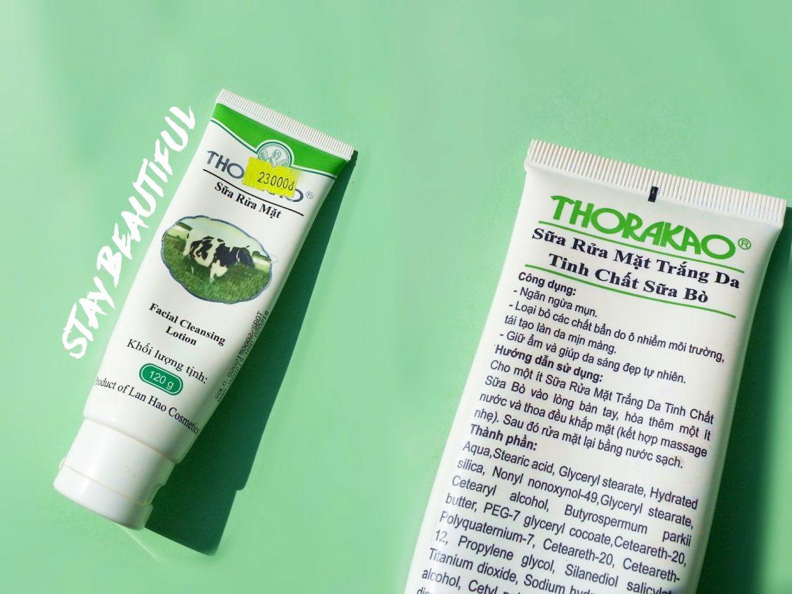review sữa rửa mặt Thorakao