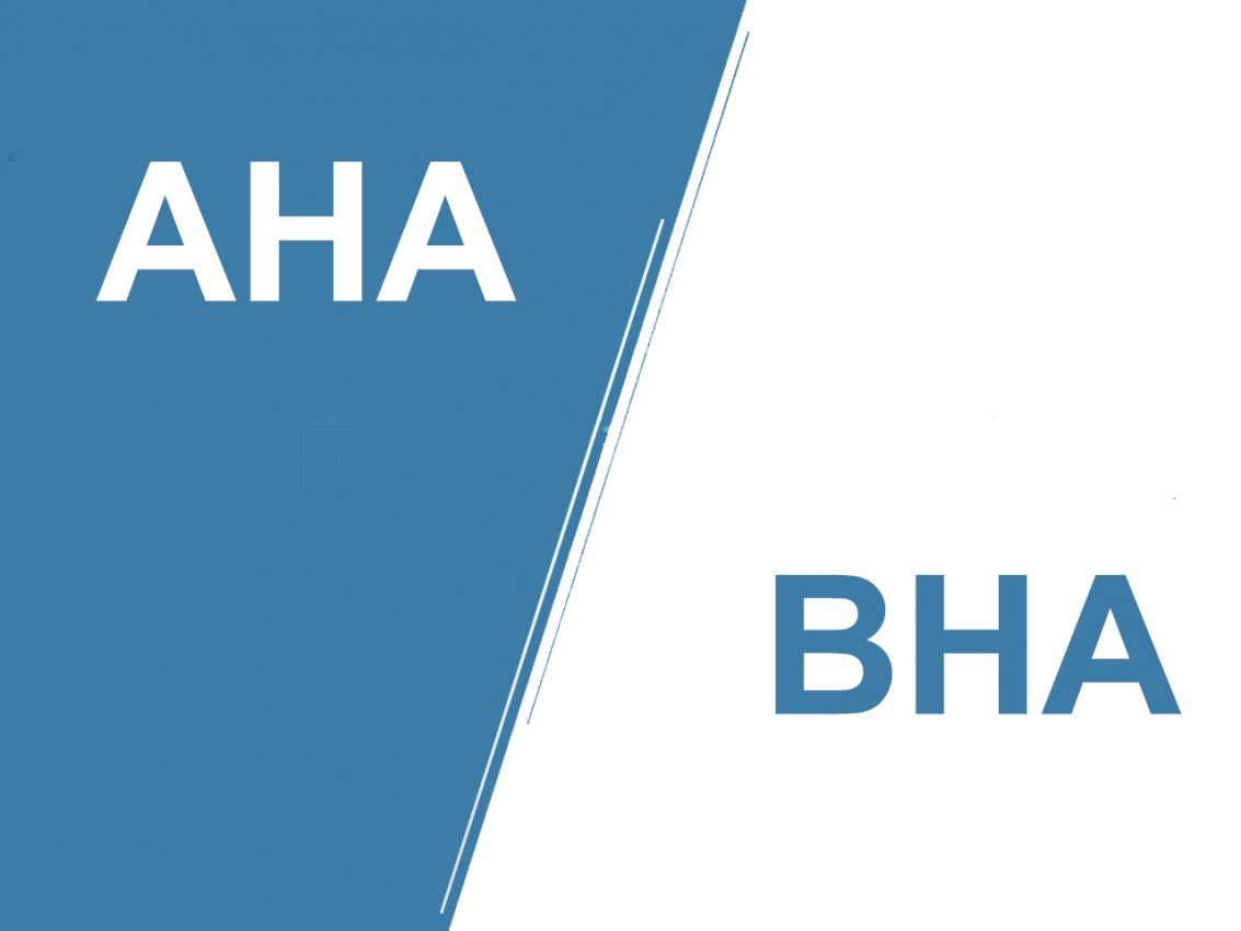 sự khác biệt giữa aha và bha