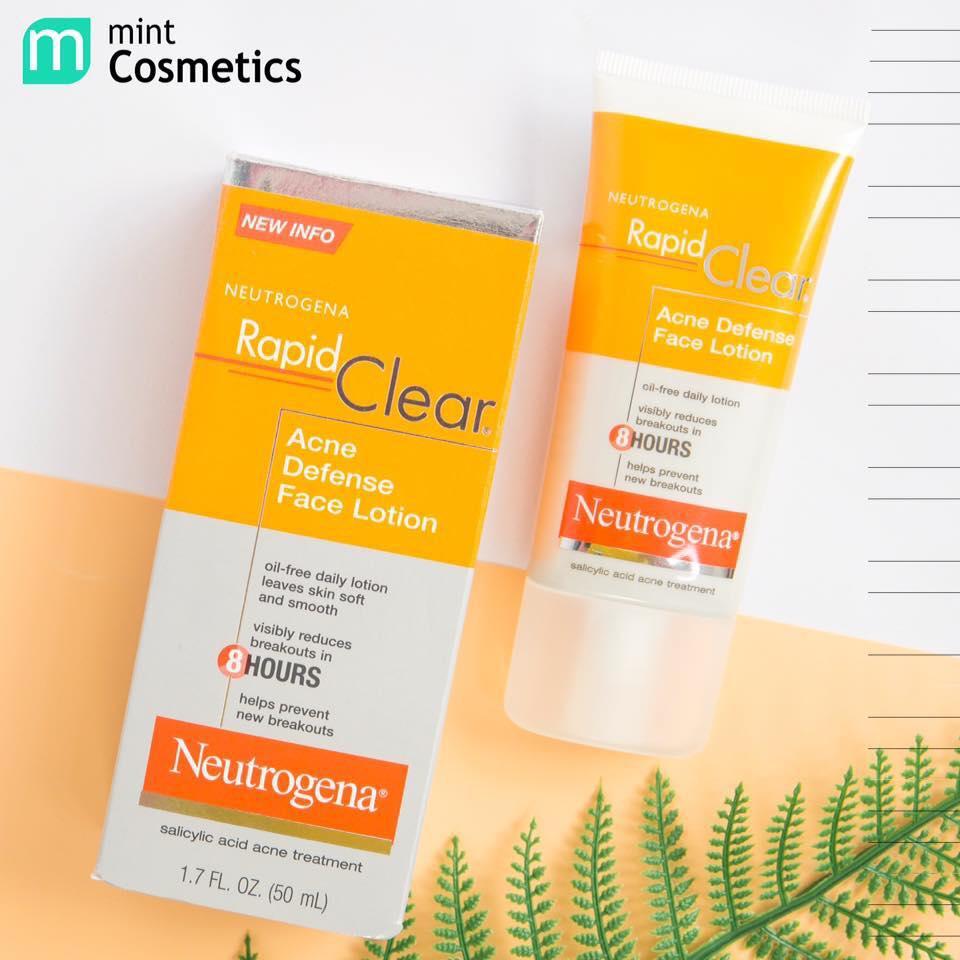 kem dưỡng ẩm cho da mụn neutrogena acne defense face lotion