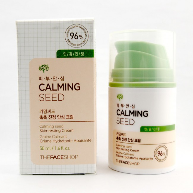 kem-duong-am-cho-da-mun-the-face-shop-calming-seed
