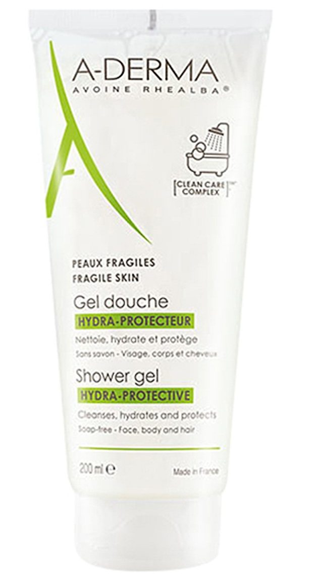gel rửa mặt cho da nhạy cảm a derma shower gel hydra protective