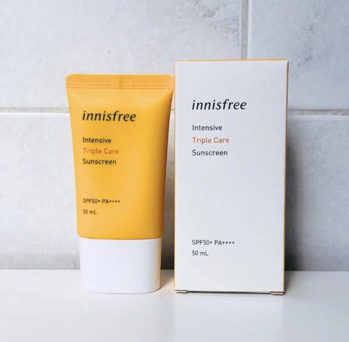 Kem chống nắng lâu trôi làm sáng da innisfree Intensive Triple Care Sunscreen SPF50+ PA++++ 50ml