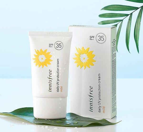 kem chống nắng innisfree daily uv protection cream no sebum cho da dầu