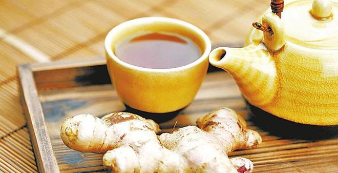 trà gừng chống lão hóa
