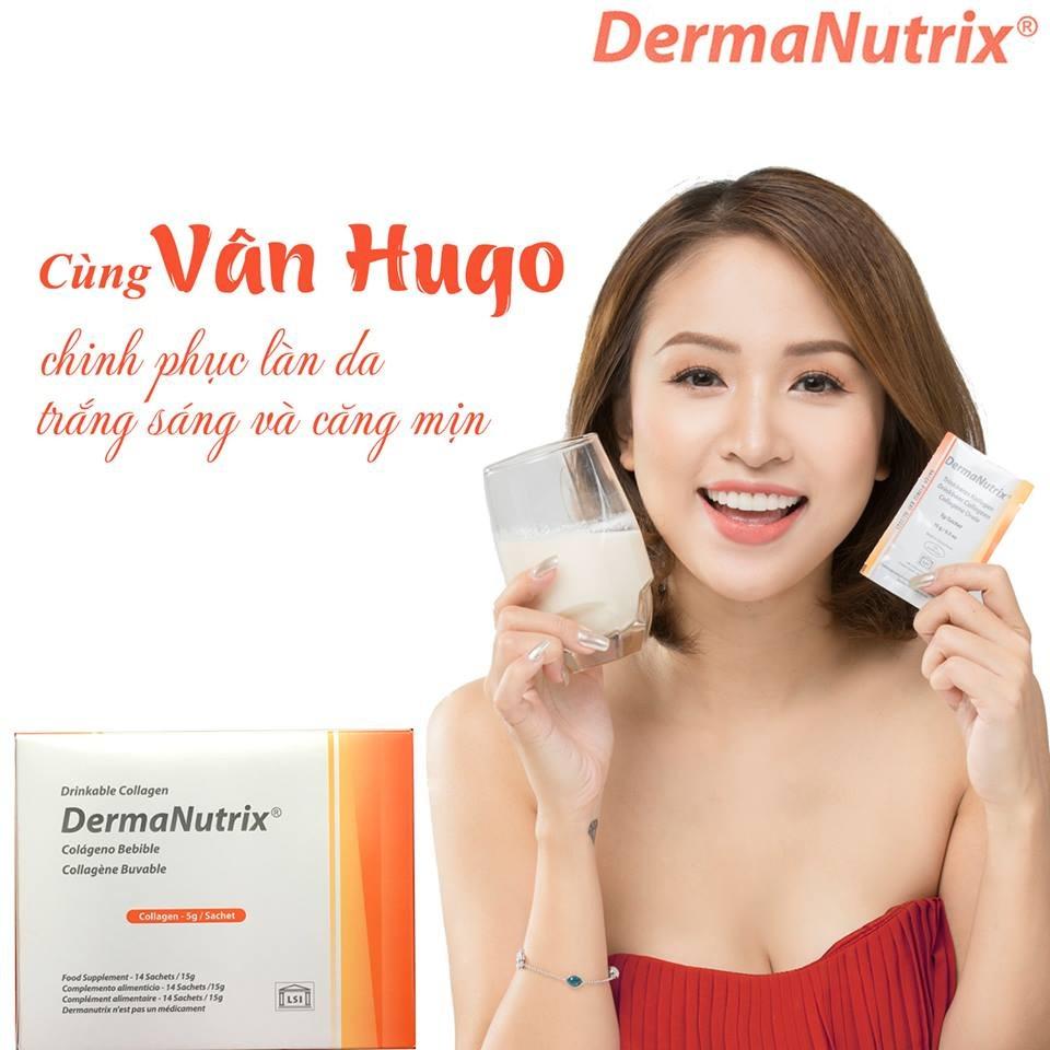 thanh vân hugo khuyên sử dụng gel collagen dermanutrix