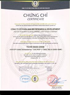 Chứng chỉ TCVN 5603 - 2008