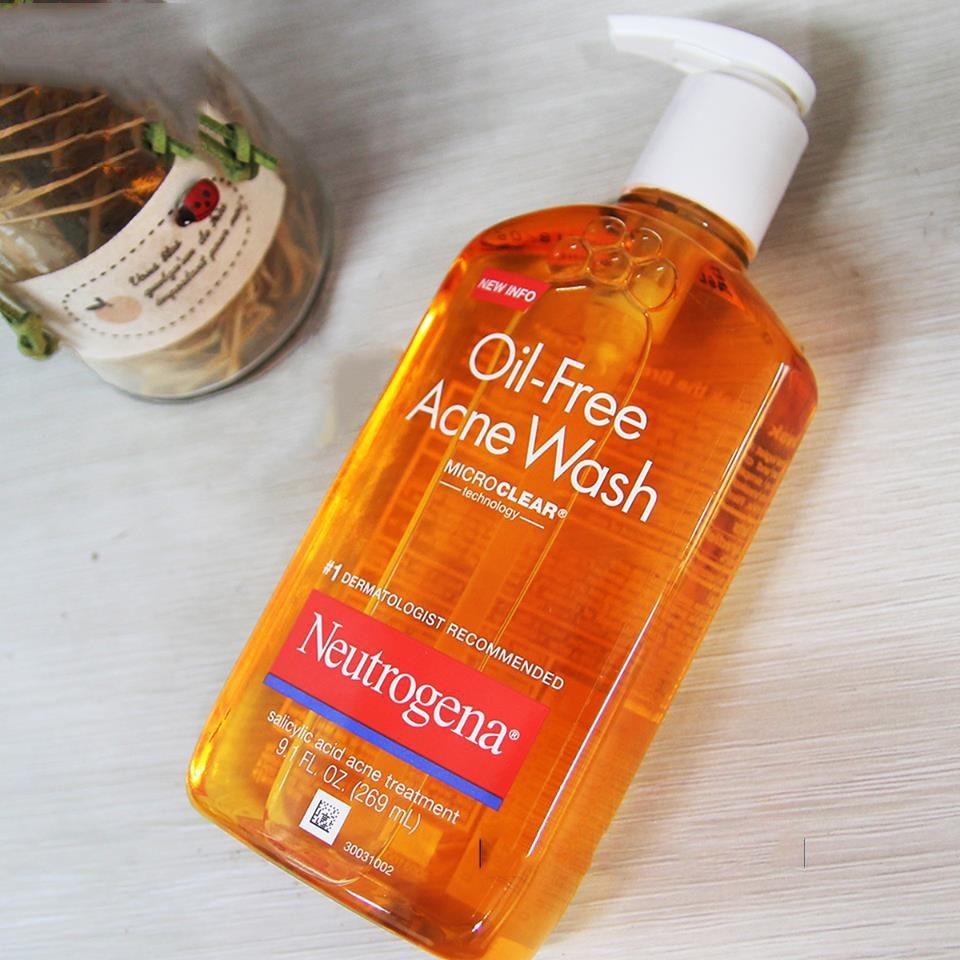 sữa rửa mặt trị mụn cho da dầu neutrogena