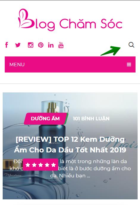 hướng dẫn tìm kiếm từ khóa trên blogchamsoc