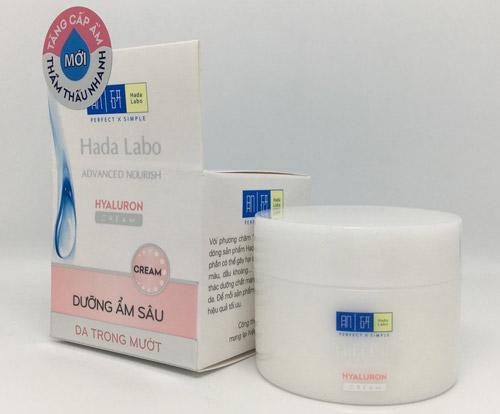 Kem dưỡng ẩm tối ưu cho da khô Hada Labo Advanced Nourish Hyaluron Cream