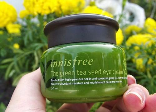 Kem dưỡng cung cấp ẩm từ trà xanh và dầu hạt trà xanh tươi Innisfree Green Tea Seed Cream 50ml