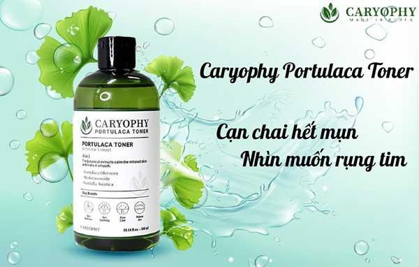 công dụng nước hoa hồng caryophy portulaca toner