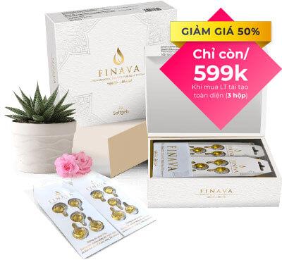 Viên bôi trắng da Finava giá 599.000đ/hộp, áp dụng khi mua combo 3 sản phẩm
