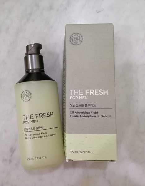 Kem dưỡng ẩm cho nam The Face Shop The Fresh For Men Oil Absorbing Fluid