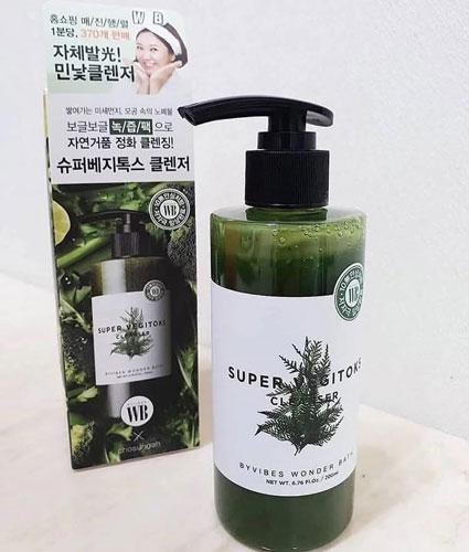 Sữa rửa mặt thải độc rau củ Byvibes Wonder Bath Super Vegitoks Cleanser