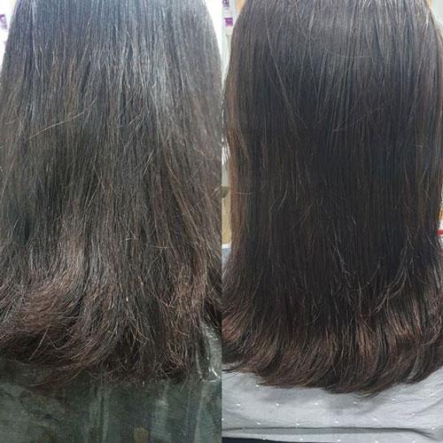 collagen giúp phục hồi mái tóc hư tổn, xơ rối