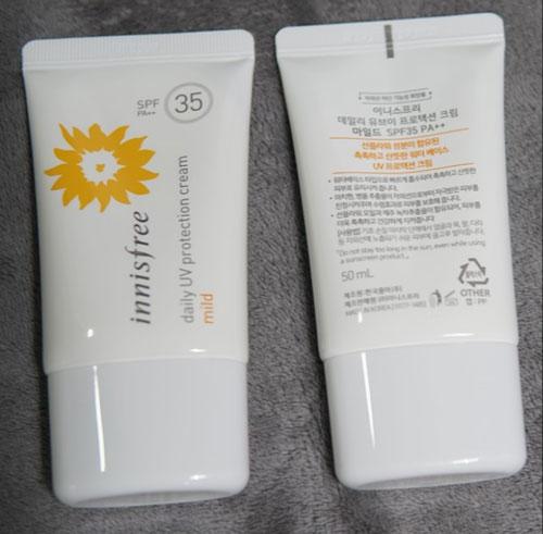 kem chống nắng Innisfree Daily UV protection cream mild SPF35/PA++ cho da nhạy cảm
