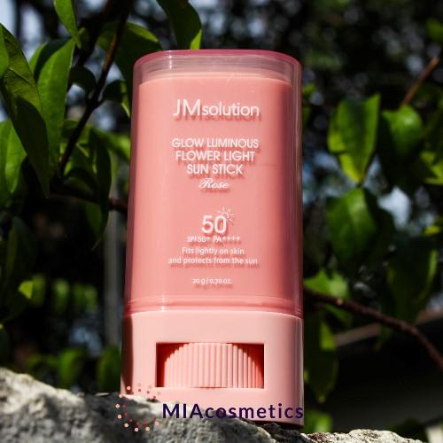 kem chống nắng cho da nhạy cảm JM Solution Glow luminous flower light sun stick rose