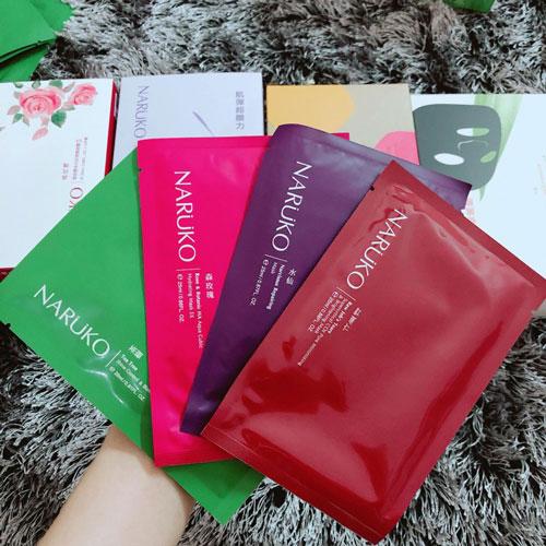 Mask giấy kiểm soát dầu nhờn và mụn Naruko