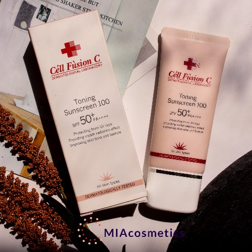 kem chống nắng cell fusion c toning sunscreen