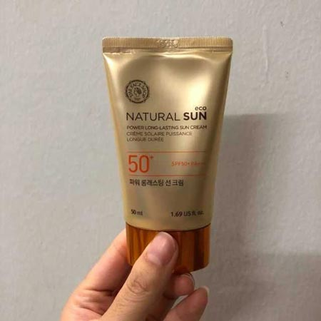 Kem chống nắng The Face Shop Natural Sun Eco Power Long – Lasting Sun Cream SPF50+ PA+++