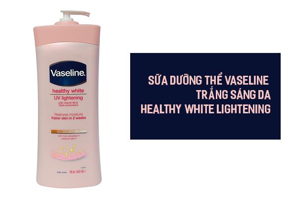 Sữa dưỡng thể Vaseline trắng sáng da Healthy White Lightening