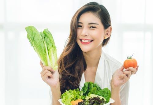 ăn nhiều rau quả làm mát cho cơ thể