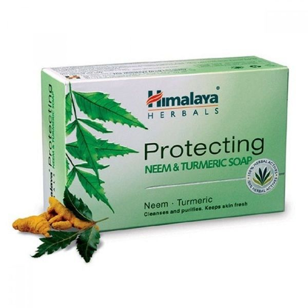 Xà phòng trị mụn lưng Himalaya neem và nghệ tây