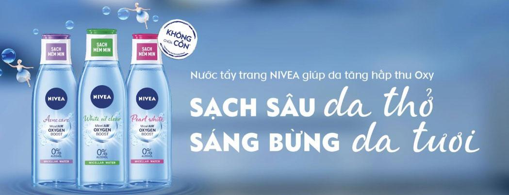 banner nước tẩy trang nivea micellair