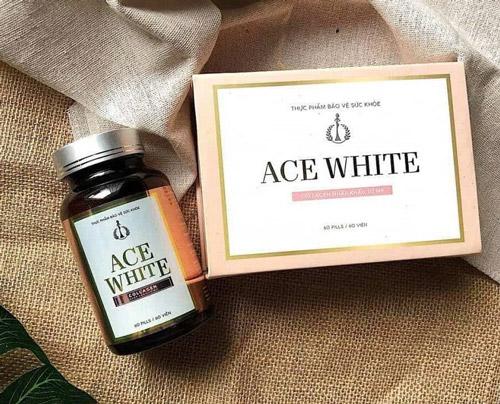Viên uống trắng da Collagen nhập khẩu Mỹ Ace White