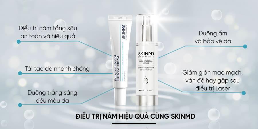 Công dụng của SkinMD Pure Whitenol với làn da