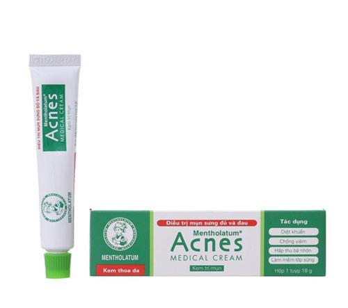 Kem hỗ trợ trị mụn sưng đỏ Acnes Medical Cream