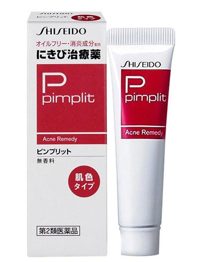 Shiseido Pimplit được thiết kế dạng tuýp nhựa màu trắng