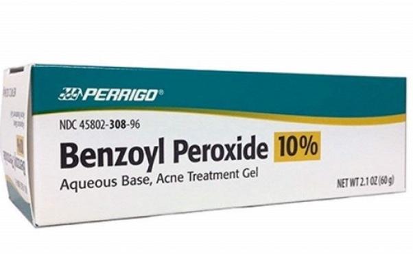 kem trị mụn chứa benzoyl peroxide