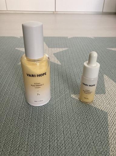 kem dưỡng trắng da và serum dưỡng trắng da varihope