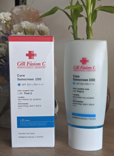 Kem chống nắng Cell Fusion C Cure Sunscreen 100 SPF 50+/ PA++++