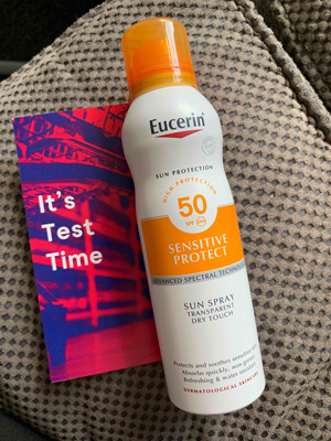 Kem chống nắng Eucerin Sun Spray Transparent Dry Touch Sensitive Protect SPF50+