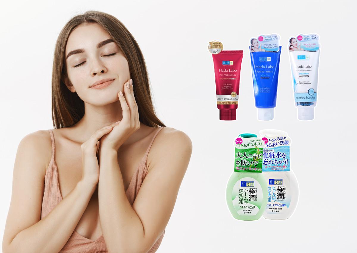 review sữa rửa mặt hada labo